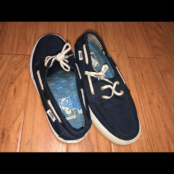 Women's vans boat shoes
